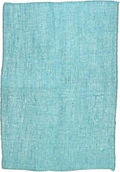 LA Linen Pack of 4 Dyed Natural Burlap Placemats 12 by 18-Inch, Turquoise