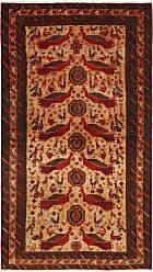 Nain Trading Oriental Khamseh Rug 64x37 Brown/Orange (Wool, Iran/Persia, Hand-Knotted)