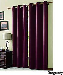 VCNY Home VCNY Home McKenzie Twill Blackout Faux Linen Grommet Window Panel, 42x95, Window Treatment, Burgundy