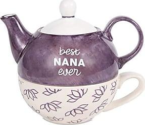 Pavilion Gift Company 85243 Pavilion-Best Nana Ever-15 Oz Teapot & 8 Oz Teacup One Tea Pot & Tea Cup Set 6 Inch Tall Purple