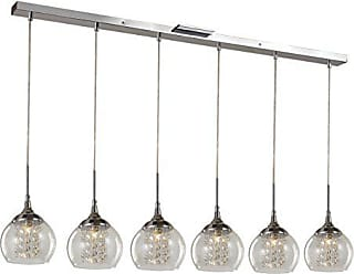 Trans Globe Lighting Trans Globe Lighting MDN-1219 Indoor Amore 6 Pendant, Polished Chrome
