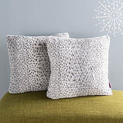 GDF Studio Christopher Knight Home Ellison Silver Dusk Decorative Faux Fur Fabric Throw Pillow (Set of 2) | Ideal for The Living Room or Bedroom | Plush Texture