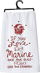 Primitives By Kathy LOL Made You Smile Dish Towel, 28 by 28, A A Marine