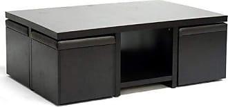 Wholesale Interiors Baxton Studio Prescott 5-Piece Modern Table and Stool Set with Hidden Storage