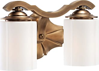 Metropolitan Leicester 12.25 2-Light Bath Vanity in Aged Brass