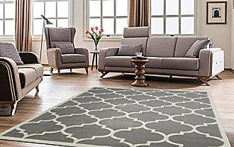 Ottomanson Paterson Collection Contemporary Moroccan Trellis Design Lattice Area Rug, 94 W, Grey