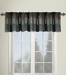 United Curtain Plaid Straight Valance, 54 by 18-Inch, Taupe/Brown