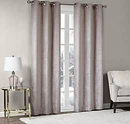 Madison Park Luxe Textured Chenille Fabric Darkening Window Curtain Panels Pair Blackout Drapes for Bedroom Living Room and Dorm, 42X63(2), Blush, 2 Piece