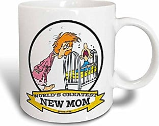 3D Rose 3dRose Funny Worlds Greatest New Mom Cartoon Magic Transforming Mug, 11-Ounce