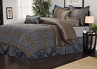 Home City Inc. Impressions 7-Piece Luxurious Comforter Set, King, Westerly
