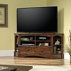 Sauder Sauder 420471 Harbor View Corner Entertainment Credenza, For TVs up to 60, Curado Cherry finish