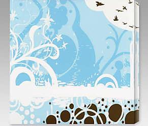 Gallery Direct Silhouette in Blue Indoor/Outdoor Canvas Print by Darvin Jones - NE37369