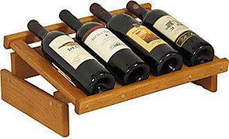 Wooden Mallet 4 Bottle Dakota Wine Display Rack, Medium Oak