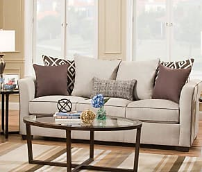 United Furniture Simmons Upholstery Stewart Queen Sleeper Sofa - 4202-04Q STEWART LINEN