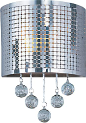 ET2 Contemporary Lighting Illusion 1-Light Wall Sconce in Polished Chrome w/Bubble Shade