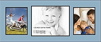 Art to Frames Collage Photo Frame Double Mat with 1 - 11x14 and 2 - 8x10 Openings and Satin Black Frame