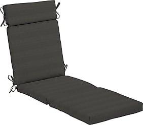 Belham Living Acrylic 72 x 22 in. Chaise Lounge Outdoor Cushion Graphite Gradated Stripe - AH1F854B-D9H1