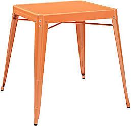 Crosley Furniture Amelia 30-inch Metal Cafe Table - Orange