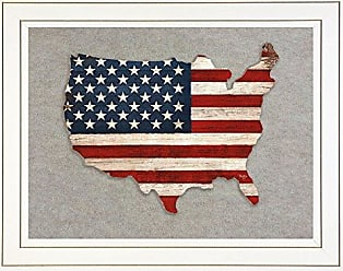 Trendy Decor 4 U Trendy Decor4UOld Glory by Mollie B Framed Prints Red/White/Blue
