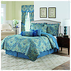Ellery Homestyles WAVERLY Moonlit Shadows Quilt Collection, Full/Queen, Lapis