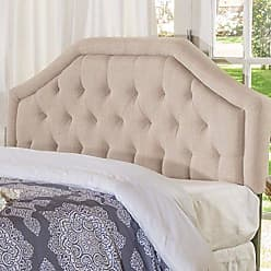 Christopher Knight Home 300681 Angelica Tufted Light Beige Fabric Queen/Full Headboard