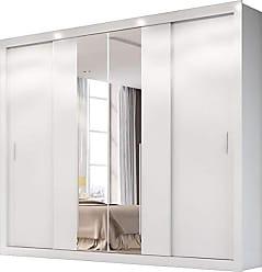 Docelar Roupeiro Florença 4 Portas Com Espelho - Branco - Docelar
