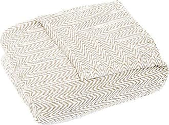 Trademark Global Bedford Home F/Q Blanket-100% Cotton Chevron Luxury Soft Blanket, Full/Queen, Taupe