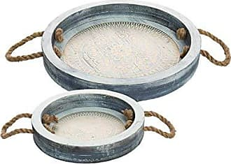 Foreside Home And Garden Henna Trays, Set of 2