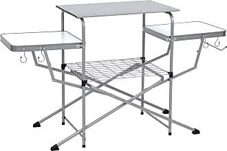 Best Choice Products Portable Folding Grilling Table w/ Carrying Case - Silver