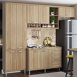 Multimóveis Cozinha Completa com Balcão sem Tampo 4 Peças 9 Portas Sicília Multimóveis Argila