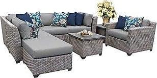 TK Classics Florence 8 Piece Outdoor Wicker Patio Furniture Set 08g (standard)