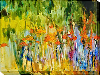 West of the Wind Orange Lily Abstract Outdoor Wall Art - OU-80932 (ORANGE LILY ABSTRACT)