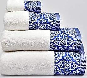 Set di 2 Asciugamani Blu 500 g in Cotone MI CASA