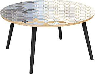 NyeKoncept Stella Midnight Gold Deco Flare Coffee Table - 12036390