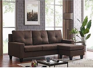 Overstock Vogue Reversible sectional (Brown)