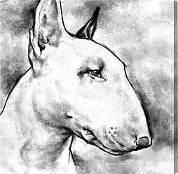 Hatcher & Ethan Hatcher and Ethan Bull Terrier Canvas Art - HE15118_43X43_CANV_XXHD_AR