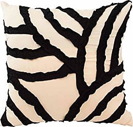 Ellery Homestyles Vue Cersei 16-inch Fashion Accessory Pillow, 16x16, Ivory