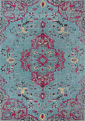 Momeni Rugs Momeni Rugs JEWELJW-02BLU90C0 Jewel Traditional Medallion Flat Weave Area Rug, 90 x 120, Blue