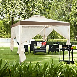 Costway 10 x 10 Canopy Gazebo Tent Shelter With Mosquito Netting Outdoor Patio