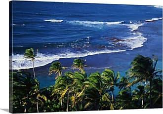 Great Big Canvas Kee Beach Palm Trees Canvas Wall Art Print - 75674_24_24X16_NONE