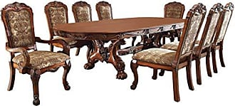 FURNITURE OF AMERICA 24/7 Shop at Home 247SHOPATHOME IDF-3557T-9PC Dining-Room-Sets, Brown