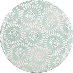 Zak designs 6766-0842 Batik Salad Plates, 9 inch, Mint Flower