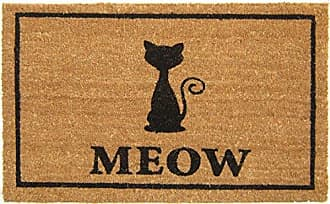 Geo Crafts Vinyl Back Meow Doormat