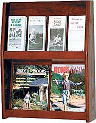 Wooden Mallet 8-Pocket Slope Literature Display, Mahogany