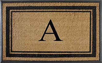 First Impression Markham Border Monogrammed Double Door Mat - A1HOME200102-A