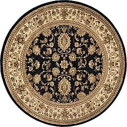 Tayse Gabrielle Traditional Oriental Black Round Area Rug, 8 Round