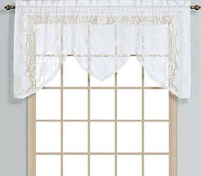 United Curtain Windsor Lace Swagger, 72 by 36-Inch, White
