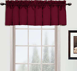 United Curtain Metro Woven Straight Valance, 54 by 16-Inch, Burgundy