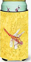 Caroline's Treasures Dragonfly on Yellow Tall Boy Beverage Insulator Beverage Insulator Hugger