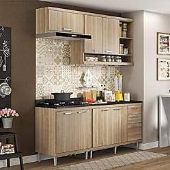 Multimóveis Cozinha Completa com Balcão com Tampo 5 Peças 7 Portas Sicília Multimóveis Argila